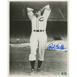 Bob Feller Signed Indians 8x10 Photo (AI Verified COA)