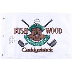 "Chevy Chase Signed ""Caddyshack"" Golf Pin Flag (JSA COA)"