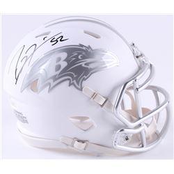 Ray Lewis Signed Ravens White ICE Mini-Helmet (JSA COA)