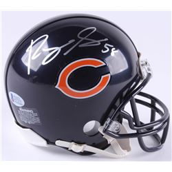 Roquan Smith Signed Bears Mini-Helmet (Beckett COA)