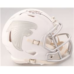 Deion Sanders Signed Falcons White ICE Mini Helmet (JSA COA)