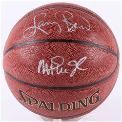 Larry Bird  Magic Johnson Signed Basketball (Beckett COA  Bird Hologram)