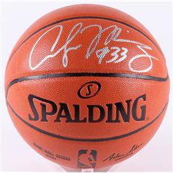 Alonzo Mourning Signed NBA Game Ball Series Basketball (Beckett COA)