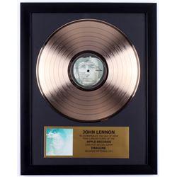 """John Lennon """"Imagine"""" Custom Framed 16x20 Gold Plated Record Album Award Display"""