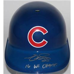 "Matt Szczur Signed Cubs Full-Size Replica Batting Helmet Inscribed ""16 WS Champs"" (Schwartz COA)"