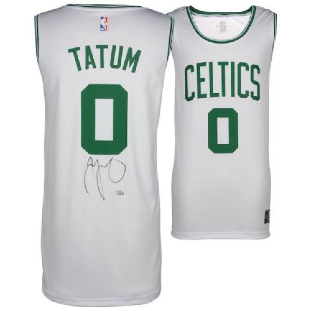size 40 9099b 72c48 Jayson Tatum Signed Celtics Fast Break Jersey (Fanatics ...