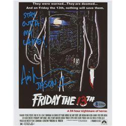 "Ari Lehman Signed ""Friday the 13th"" 8x10 Photo Inscribed ""JASON 1""  ""STAY OUTTA MY LAKE!"" (Beckett C"