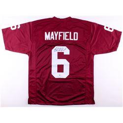 Baker Mayfield Signed Oklahoma Sooners Jersey (Beckett COA)