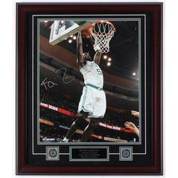 """Kevin Garnett Signed Celtics 23x27 Custom Framed Photo Display Inscribed 20,000th Pts"""" (Steiner COA)"""