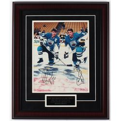 Cam Neely  Ray Bourque Signed Bruins LE 19x23 Custom Framed Photo Display (JSA COA)