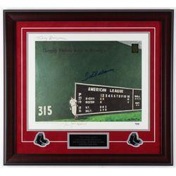 Ted Williams Signed Red Sox LE 23x25 Custom Framed Lithograph (PSA LOA  Ted Williams COA)
