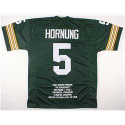 Paul Hornung Signed Packers Career Highlight Stat Jersey (JSA COA)