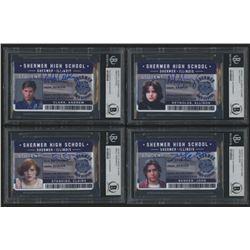 "Lot of (4) ""The Breakfast Club"" Signed Shermer High School ID Cards with Emilio Estevez, Molly Ringw"