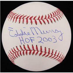 """Eddie Murray Signed OML Baseball Inscribed """"HOF 2003"""" (JSA COA)"""