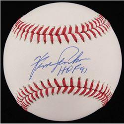 """Ferguson Jenkins Signed OML Baseball Inscribed """"HOF 91"""" (JSA COA)"""