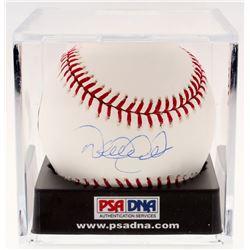 Derek Jeter Signed OML Baseball with Display Case (MLB Hologram, Steiner Hologram, and PSA LOA - Gra