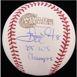 "Carl Everett Signed 2005 World Series Baseball Inscribed ""05 WS Champs"" (Schwartz COA)"