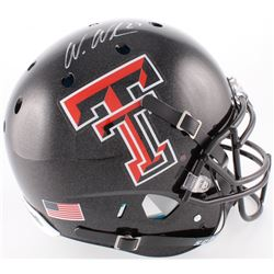 Wes Welker Signed Texas Tech Red Raiders Full-Size Authentic On-Field Helmet (Fanatics Hologram)