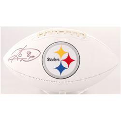 Hines Ward Signed Steelers Logo Football (Beckett COA)