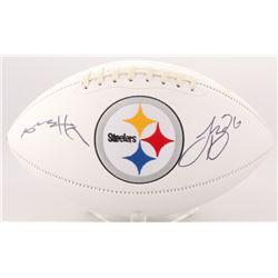 Antonio Brown  Le'Veon Bell Signed Steelers Logo Football (JSA COA)