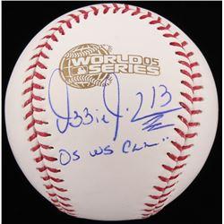 "Ozzie Guillen Signed 2005 World Series Baseball Inscribed ""05 WS Champ"" (Schwartz COA)"