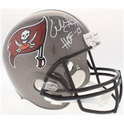 """Warren Sapp Signed Buccaneers Full-Size Speed Helmet Inscribed """"HOF -13"""" (JSA COA)"""