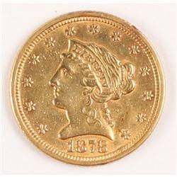 1878 $2.50 Liberty Head Gold Coin