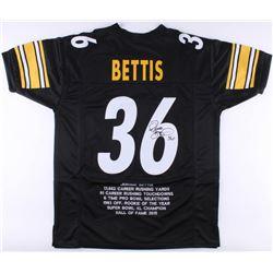 Jerome Bettis Signed Steelers Career Highlight Stat Jersey (JSA COA)