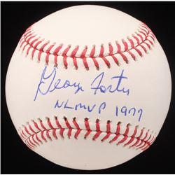 """George Foster Signed OML Baseball Inscribed """"NL MVP 1977"""" (JSA COA)"""