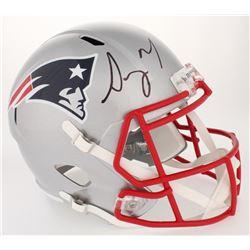 Sony Michel Signed Patriots Full-Size Speed Helmet (JSA COA)