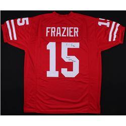 "Tommie Frazier Signed Nebraska Cornhuskers Jersey Inscribed ""'94-95' Nat'l Champs"" (JSA COA)"