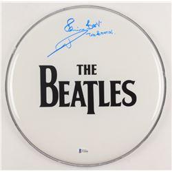 "Pete Best Signed ""The Beatles"" 12"" Drum Head Inscribed ""The Beatles"" (Beckett COA)"