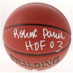 """Robert Parish Signed NBA Basketball Inscribed """"HOF 03"""" (Schwartz COA)"""