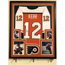 Tim Kerr Signed Flyers 34x42 Custom Framed Jersey Display (JSA COA)