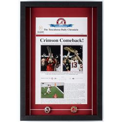 Alabama Crimson Tide 2009 BCS National Champions 15.5x22.5x2 Custom Framed Print Display with (2) Ch