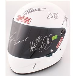 Full-Size Simpson Helmet Signed by (10) NASCAR Superstars with Dale Earnhardt Jr., Joey Logano, Kevi
