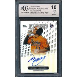 2013 Finest Rookie Autographs Refractors #MM Manny Machado RC (BCCG 10)