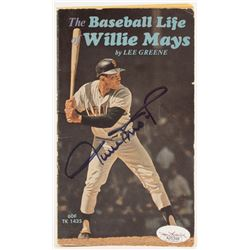 "Willie Mays Signed 1972 ""The Baseball Life of Willie Mays"" Paperback Book (JSA COA)"