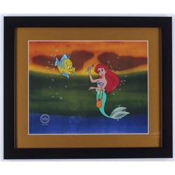 "Walt Disney's ""The Little Mermaid"" 16x19 Custom Framed Animation Serigraph Display"