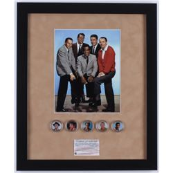 """Rat Pack"" 16x19 Custom Framed Photo Display with (5) Colorized Coins"