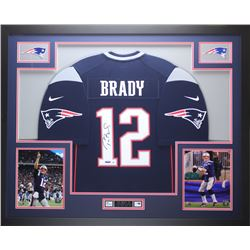 Tom Brady Signed Patriots 35x43 Custom Framed Jersey (TriStar Hologram  Steiner COA)