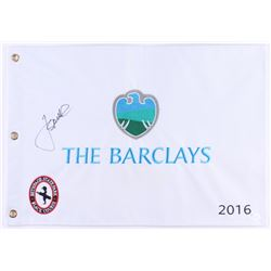 Jordan Spieth Signed 2016 The Barclays Pin Flag (JSA COA)
