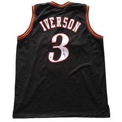 "Allen Iverson Signed 76ers ""The Answer"" Jersey (Beckett COA)"