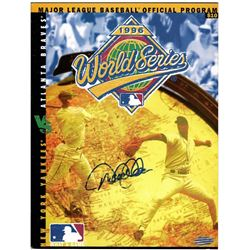 Derek Jeter Signed 1996 World Series Program (Steiner COA)