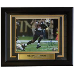 Michael Thomas Signed Saints 11x14 Custom Framed Photo Display (JSA COA)