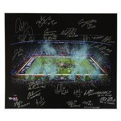 2017 LE Super Bowl 52 Eagles 20x24 Photo on Canvas Team-Siged by (52) with Nick Foles, Nigel Bradham