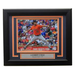 Gerrit Cole Signed Astros 11x14 Custom Framed Photo Display (Beckett COA)
