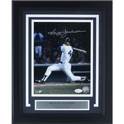 Reggie Jackson Signed Yankees 11x14 Custom Framed Photo Display (JSA COA)