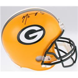 Aaron Rodgers Signed Packers Full-Size Helmet (Fanatics Hologram  Leaf Hologram)