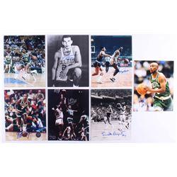 Lot of (7) Celtics 8x10 Signed Photos with Charlie Scott, Sam Jones, Gene Guarilia, Jo Jo White Insc